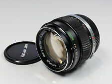 OLYMPUS OM 50MM F1.4 ZUIKO MANUAL FAST PRIME LENS EARLY SILVER NOSE