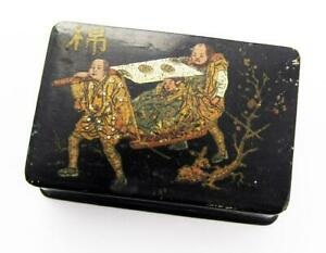 JAPANESE Antique LACQUER SNUFF BOX