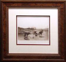 """Antique Engraving """"An Open December"""" Photogravure Art NEW frame Make an Offer"""