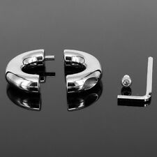 Sexy Male Stainless Steel Ball Restraint Ring Stretching Weight Enhancer LOCK