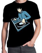 DJ Spock Star Trek Parody Funny 80's Costume Dubstep Hip Hop Sci Fi Geek T-Shirt