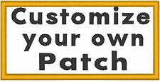 """Custom Embroidery 5"""" x 3"""" Name Tag 3 LINES Patch Motorcycle Biker Emblem #015"""