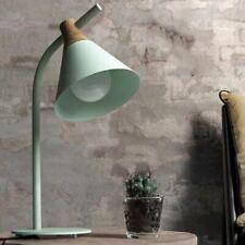 Nórdico Hierro Madera Lámpara de Mesa Moderno Campo Escritorio LED E27 Estudio