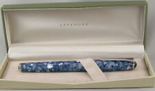 Levenger True Writer Delft & Chrome Rollerball Pen - New In Box