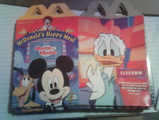 House of Mouse Mcdonalds toys cardboard boxes for happy meals