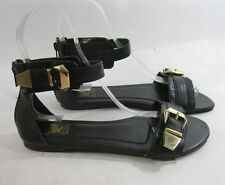 Summer Black Womens Shoes Open Toe Ankle Strap Sexy Sandals Size 8