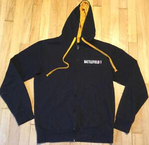 BATTLEFIELD 1 hoodie S video game DICE black EA Think geek gamer Comicon
