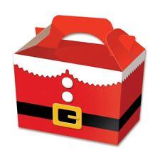 50 x cajas de alimentos de Navidad Santa Traje Fiesta-Comida Saquear Almuerzo Cartón Regalo Niños