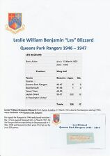 LES BLIZZARD QUEENS PARK RANGERS 1946-1947 RARE ORIGINAL SIGNED CUTTING/CARD