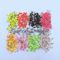 Lures Pro 50 PCs 1/8 oz  Lead Jig Head Fishing Hooks Jig Heads Crappie