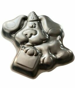 Vintage Blues Clues Dog Puppy Wilton Cake Pan Hat and Gift Cake 1999 Viacom