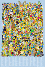 "THE SIMPSONS POSTER ""CAST"" LICENSED ""BRAND NEW"" HOMER, BART, LISA, SMITHERS"