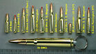 Real Bullet Keychain 50 BMG, 5.7, 5.56, 308, 30-06, 357, 44, 45, 50AE, 500 Mag