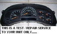 CHEVROLET SILVERADO Speedometer Cluster REPAIR SERVICE Instrument 2003 04 05 06