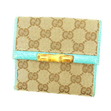 Auth Gucci W Hook Wallet GG Canvas Women''s used Q235