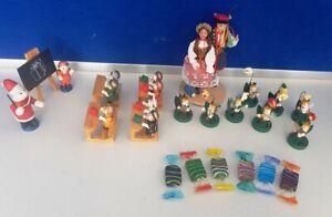 kleine Figur Set - Schule, Bienenorchester , Glas Bonbons - #A