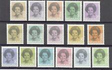 NVPH nr.1237-1252 Beatrix in zwart 1981-1990 postfris