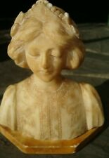 Antique original ca 1900 tiny 5 inches marble woman bust sculpture
