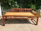 Antique Chinese Daybed Opium Day Bed Rattan + Wood 1800'S PICK UP ONLY IN DENVER