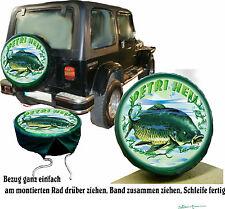 Pêcheur Fischer Fisch Carpe Voiture Pneus Jeep Housse Pour Roue De Secours