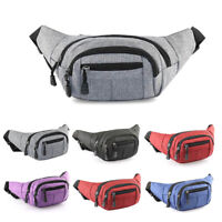 Mens Cycling Waist Fanny Pack Belt Bag Casual Travel Hip Purse Sports Wallet Hot