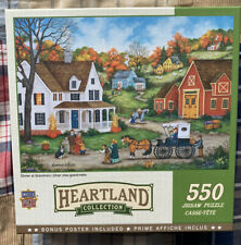"""USED Master Pieces 550 Piece Puzzle """"Dinner At Grandma's"""", has all pieces"""
