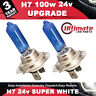 H7 Xenon 24v 100w Headlight Bulbs Super Bright White Fog Light Lorry Truck Bus