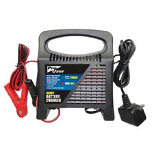 Car Battery Charger 12V 4A Vehicle Van Lead Boost Circuit Jump Starter Garage