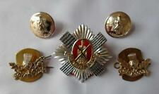 British Army Royal Scots The Royal Regiment Cap/Collar Badges & Buttons