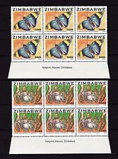 Zimbabwe 2004 Nature / Butterfly Imprint Blocks, MNH (sheet margin)