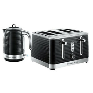 Kettle Toaster Set Black Chrome Accents Cheap Russell Hobbs Kitchen Jan Sale