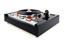 Restaurierter Thorens TD 125 MKII Plattenspieler turntable in orange - schwarz