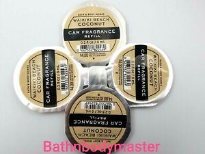 4  Bath and Body Works SCENTPORTABLE WAIKIKI BEACH COCONUT Car Fragrance Refill