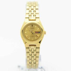 Seiko 5 SYMA04K1 Automatic Gold-Tone Stainless Steel Analog Ladies's Watch
