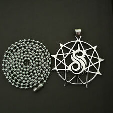 Music charm  SLIPKNOT Nonagram STAR Polished Stainless Steel pendant necklace