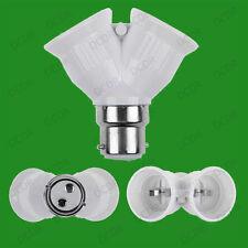 B22 a 2x E27, Lampadina Lamp Holder Adattatore Splitter, BAIONETTA, Edison, BC, es