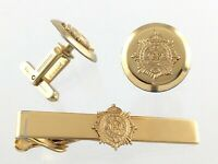 Vintage RCASC Royal Canadian Army Service Corps Tie Clip Bar Cuff Links T450
