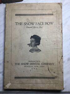 Snow Face Bow, Antique Medical Dental Mouth Guard, Gag, Horror, Movie Prop, BDSM