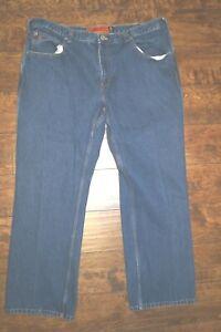 Jesse James Mens Classic Straight Jeans Blue Pocket 100% Cotton Work Fit 40 x 30
