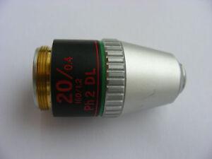 Nikon 20x/0.4 Ph2 DL 160/1.2 Microscope Objective