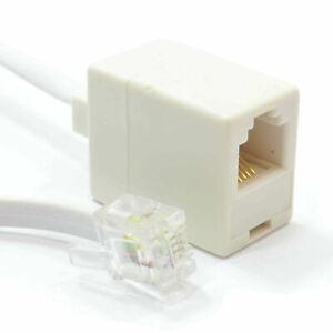10m RJ11 6P4C Mâle Femelle ADSL Modem Ou US Téléphone Extension Câble [008642]