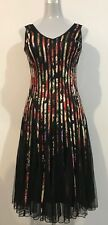 ABSOLUTELY STUNNING CHASE 7 MULTI RIBBON & NET STRIPE DRESS SIZE 8