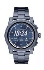 NWT MICHAEL KORS Access Blue Grayson Men's Touchscreen Smartwatch MKT5028