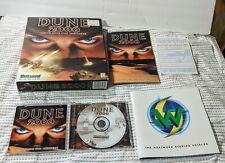 """Original 1998 Big Box Westwood Studios """"Dune 2000"""" CD-ROM PC Win95/98"""