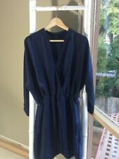 Lovely •French Connection• Fluid Navy Batwing Dress Size 10 S EUC