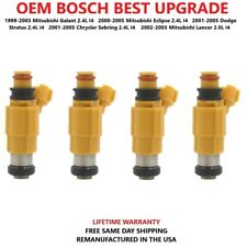 BEST UPGRADE OEM BOSCH 4 Fuel Injectors For 1999-05 Mitsubishi/Dodge/Chrysler i4