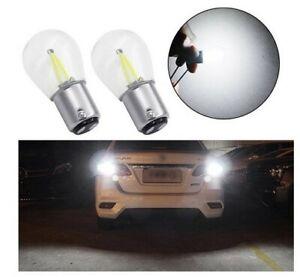 Ampoule P21/5W LED BAY15D COB 6000k Blanc pour feux de recul Veilleuse 2pcs