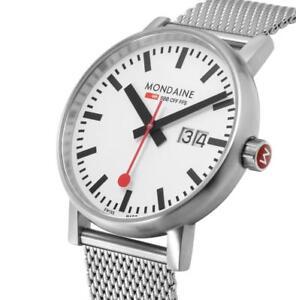 MONDAINE MSE.40210.SM Swiss Railways Evo2 40mm Stainless Steel Men's Watch