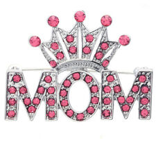 Pink Queen Princess Love Tiara Heart Mother's Day Gift Mom Pin Brooch Charm q1