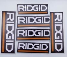 x 6 Toolbox Stickers workshop decals Ridgid Tools